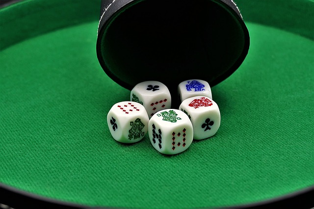 poker dice, gambling, poker